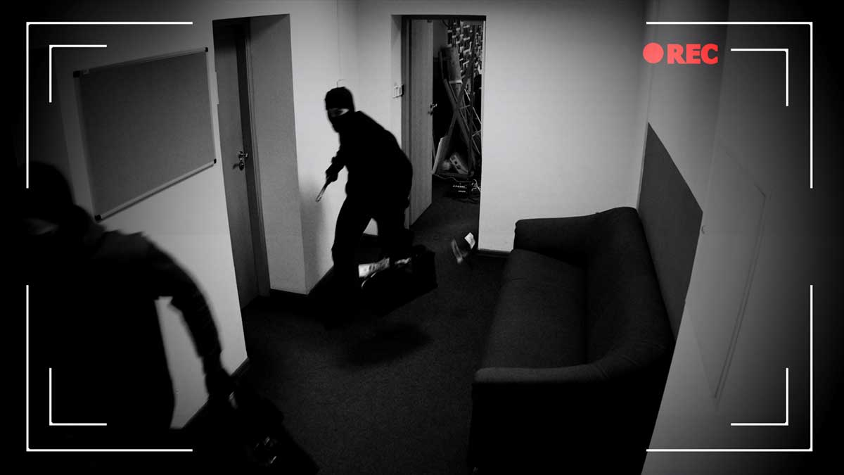 Videoüberwachung erfasst Einbrecher