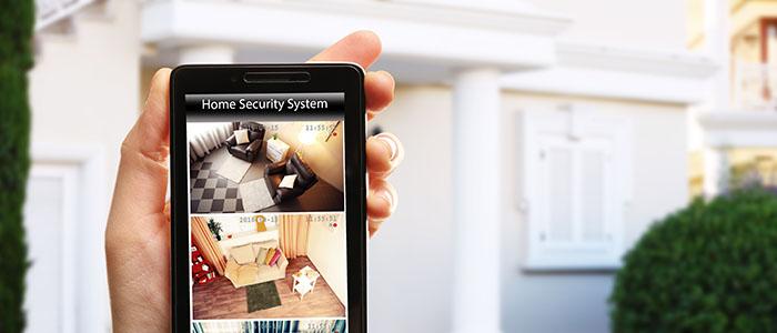 Home Security System auf dem Smartphone